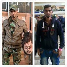 The guy on the left is a member of ISIS, the guy on the right is a Syrian refugee making his way here. Looks like the same guy. heading here if Obama has his way. Refugees In Europe, Syrian Refugees, Westerns, Sharia Law, God Bless America, Current Events, We The People, Stupid People, Wake Up