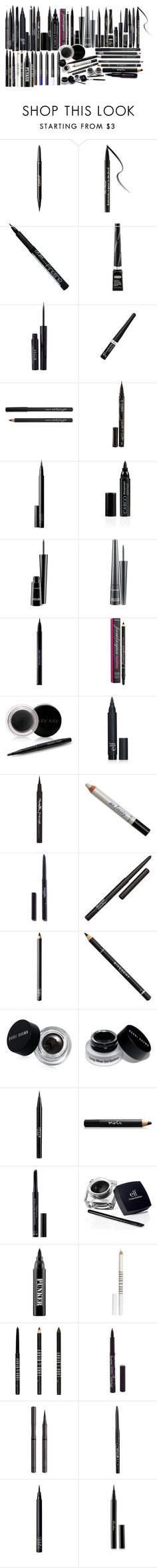 """Teen Wolf: Eyeliner"" by grandmasfood ❤ liked on Polyvore featuring beauty, tarte, Too Faced Cosmetics, Isadora, Stila, Rimmel, Smith & Cult, NARS Cosmetics, CARGO and MAC Cosmetics"