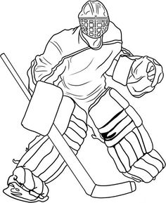hockey goalie coloring pages printable and coloring book to print for free. Find more coloring pages online for kids and adults of hockey goalie coloring pages to print. Hockey Tournaments, Hockey Goalie, Hockey Mom, Hockey Teams, Hockey Players, Hockey Girls, Sports Coloring Pages, Coloring Pages For Boys, Coloring Pages To Print