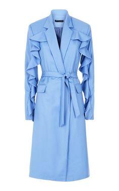 Faro Long Wool Coat by Malene Oddershede Bach Suit Fashion, Fashion 2020, Fashion Outfits, Long Wool Coat, Wool Coats, Dr Coats, Street Hijab Fashion, Short Lace Dress, Shearling Coat