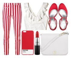 """""""street style"""" by sisaez ❤ liked on Polyvore featuring Dondup, Hollister Co., Case Scenario, MAC Cosmetics and Furla"""