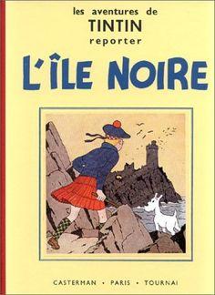 Couverture de Tintin (Les aventures de) - Noir et blanc, tome 7 : L'île noire