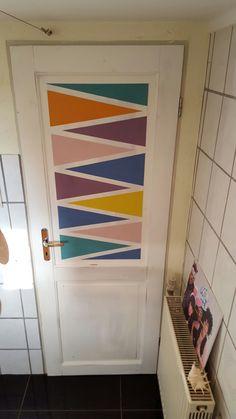 Tür Streichen tür mit streifen kleben oder streichen cooler style home