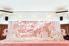 Kara's Dreamy Unicorn Themed Party – Birthday 18 Birthday Party Decorations, Tea Party Theme, Girl Birthday Themes, 18th Birthday Party, Birthday Backdrop, Debut Themes, Disney Princess Party, Photo Booth Backdrop, Backdrops For Parties
