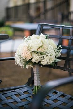 gardenia floral design | white hydrangea, roses, spray roses, babies breath bouquet