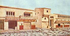 Recosntrucción de la vía de la Abundancia. Pompeya
