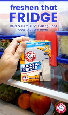 Did you know you can help eliminate odors, even with a fridge full of leftovers? Believe it or not, it takes just one quick and easy step: place a box of ARM & HAMMER™ Fridge-N Freezer inside. This will absorb and neutralize those unwanted lingering odors. And, to keep your fridge fresh longer, replace the box every 30 days.