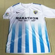 2016-17 Málaga CF Blue and White Thailand Soccer Jersey