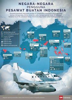 Negara-negara Pengguna Pesawat Buatan Indonesia