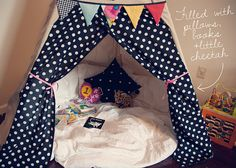 DIY teepee.....one day I'll do this for my daughter