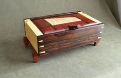 Handmade Wood Jewelry box by DvCdModernWood on Etsy, $275.00  Wow awesome Box!!!!!!