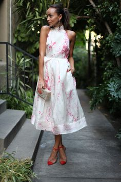 Ashley Madekwe in Zimmermann dress & Louboutins