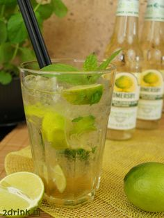 Mojito z Somersby Elderflower Lime Irish Cream, Elderflower, Limo, Prosecco, Mojito, Sangria, Food Design, Cantaloupe, Cucumber