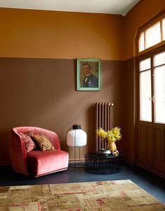 pink velvet club chair. / sfgirlbybay