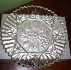 Federal Glass Pioneer Pattern Crystal Tray by secretgardenfarms, $14.99