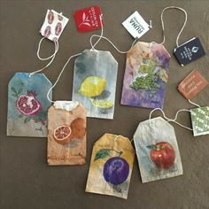 Yule toast a festive pour with trending tea bag art. Celebrate with Give the gift of art. 🎁 The creative inspiration is worth it! Artist Paints Wonderful Designs on Used Tea Bags Tea Bag Art, Tea Art, Art Sketches, Art Drawings, Pen Pal Letters, Creation Art, Art Hoe, Art Sketchbook, Aesthetic Art