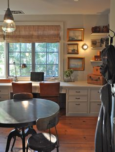 Love the idea of a built in desk in the dining room - that's where the work usually gets done anyway, right?