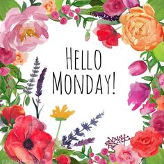 Hello Monday!! What - creative - things will you be doing today? #monday #hellomonday #picoftheday #photooftheday #flowers #floral #watercolor #illustration #pretty #hello #haveaniceday