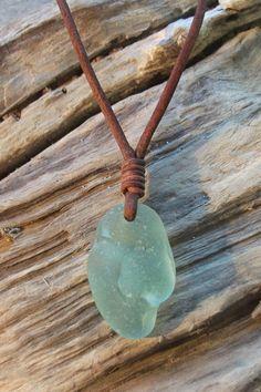 Unisex Scottish Bonfire Sea Glass Surfer Necklace Seaglass- Beachwear