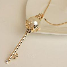 Royal Pearl Fashion Key Necklace | LilyFair Jewelry, $15.99!