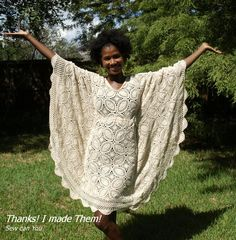 Thanks! I made them!: Vintage Tablecloth to Bohemian Style Dress