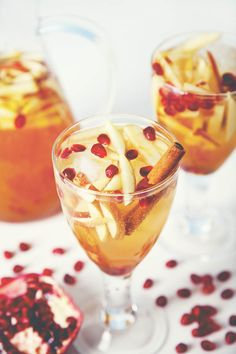 Get the recipe for this easy, festive Sparkling Pomegranate Apple Cider Sangria. Just a handful of ingredients and perfect for a crowd.
