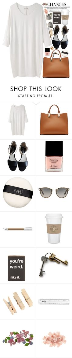"""""""Changes are good"""" by martinabb ❤ liked on Polyvore featuring BLACK CRANE, Karl Lagerfeld, Chanel, Butter London, NARS Cosmetics, Persol, Faber-Castell, WALL, Suck and Tasha"""