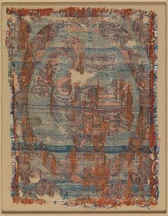 Textile Medallion Object Name: Fragment Date: 6th century Geography: Iraq or Syria Culture: Islamic Medium: Silk; twill Accession Number: 90.5.10