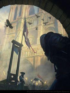 La guillotine. by Gilles Beloeil   Illustration   2D   CGSociety