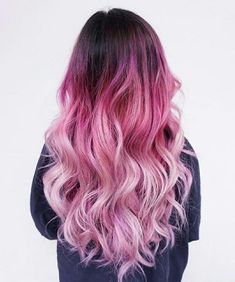 30 stylish hairstyles and hairstyles for girls over 30 Related posts: 50 unique hairstyles for long hair 50 unique hairstyles for long hair 30 Best Hairstyles for Heart Shaped Faces … crazy hair color, gorgeous thick lapis hair in a … Dyed Hair Ombre, Pink Ombre Hair, Hair Color Pink, Cool Hair Color, Hair Colors, Hair Dye, Ombre Color, Long Pink Hair, Blonde Color