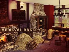 Sims 4 CC's - The Best: Medieval Bakery by Kiolometro