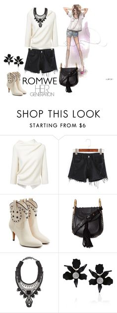 """""""Romwe short's"""" by sahelirima ❤ liked on Polyvore featuring GE, Roland Mouret, Marc Jacobs, Chloé, DYLANLEX and Lele Sadoughi"""