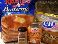 Quick and Easy Pumpkin Pie Spice Pancakes - Cook This Again, Mom!  Karen's note: to sub in for the pumpkin pie spice, I use 1 1/2 tsp. Cinnamon, 1/2 tsp. Ginger, 1/2 tsp. Nutmeg and a dash of cloves.