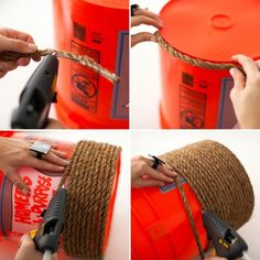 Cómo hacer un puff con un tacho de pintura paso a paso - Taringa!