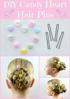 DIY Candy Heart Hair Accessories for Valentine's Day
