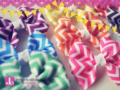 I love chevron, but i love it even more when it comes in bows!