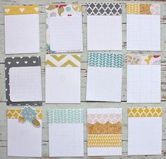 Mish Mash: July Gossamer Blue...handmade journaling cards using Fancy Pants - she makes the best journaling cards