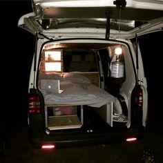 Sooo cosy thanks to the indirect lighting #camper #volkswagen #van #camping #vanlife #bullifaktur #bed #outdoor #homeonweels #campervan #campingweekend #gemütlich #indirectlighting #vwinteriors