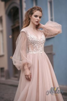 lace chiffon prom dress,V Neck Wedding Dress,Long Sleeve Wedding Dress chiffon wedding dresses Lace Wedding Dress With Sleeves, Wedding Dress Chiffon, Sweetheart Wedding Dress, Tulle Prom Dress, Long Sleeve Wedding, Long Wedding Dresses, Lace Dresses, Boho Dress, Prom Dresses