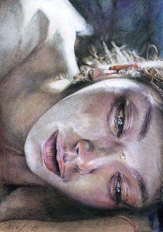 , sur Behance - Taide - The Effective Pictures We Offer You About triste dessin L'art Du Portrait, Arte Sketchbook, Sad Art, A Level Art, Art Drawings Sketches, Aesthetic Art, Love Art, Art Girl, Watercolor Art