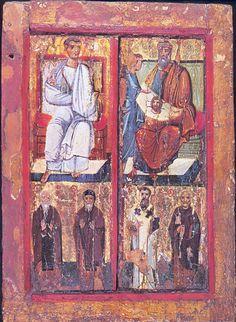 Panneau de bois peint, Mont, Sinaï, monastère Sainte-Catherine, Xe siècle (v…