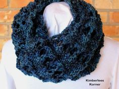 Blue Cowl  - Denim Blue Knit Cowl