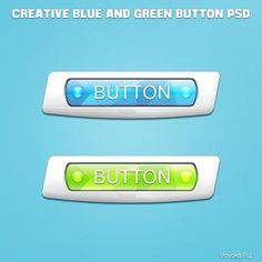 Креативная Кнопка для Сайта PSD