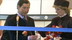 image: Charles and Diana open Terminal 4 at Heathrow Airport, April 4, 1986