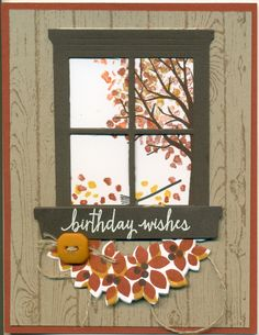 Sheltering Tree, Sprinkles of Life, Wood grain background stamp, Hearth & Home framelits, Wondrous Wreath