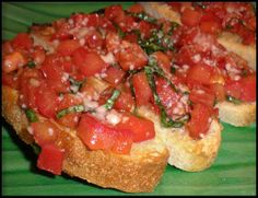 """Tomato and Basil Bruschetta from Food.com:   My first culinary """"success."""" This recipe came from a great book _Cucina Amore_, and is often requested by friends and family."""