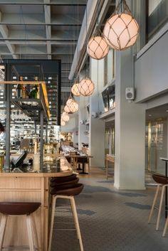 ZERO lighting - Fisherman at Restaurant Bronda Small Restaurant Design, Café Restaurant, Architecture Restaurant, Oyster Restaurant, Marina Restaurant, Restaurant Specials, Luxury Restaurant, Restaurant Recipes, Bakery Interior