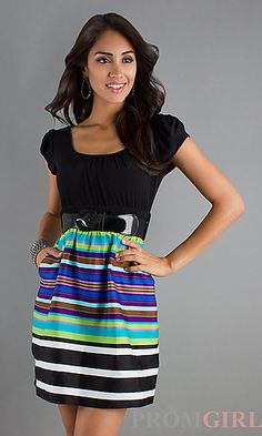 Short Casual Dress. I love belts with dresses Best Summer Dresses 4689e9053
