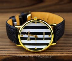 stripes watches, men and women watch, students watch, unique watches…