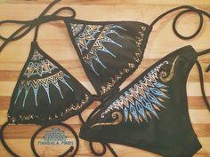 - hand painted mandala bikini set by Mandala Minds - boho gypsy soul